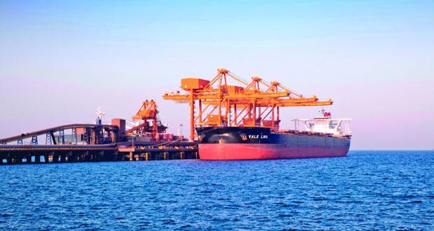 """""""فالي"""" تصدر أول شحنة لأحجار """"الجابرو"""" عبر ميناء صحار"""