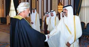 تعازي جلالة السلطان لأمير قطر نقلها شهاب بن طارق