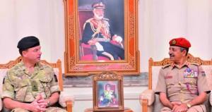 رئيس الأركان وقائد الجيش يستقبلان قائد القوات المشتركة البريطانية