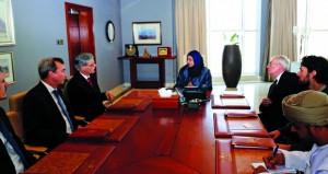 وزيرة التعليم العالي تلتقي وفدا من جامعة تيوبينجن الألمانية