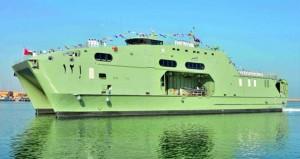 البحرية السلطانية العمانية تحتفل بانضمام (الناصر) إلى أسطولها البحري
