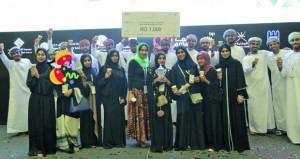 """ناف تفوز بأفضل خطة تسويقية في منافسات """" الشركات الطلابية """" لإنجاز عمان"""
