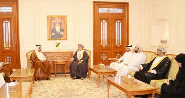 المنذري وعيسى الكيومي يستقبلان رئيس لجنة حقوق الإنسان بقطر