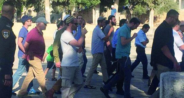 مستوطنون وجنود إسرائيليون يستبيحون (الأقصى) وسط دعوات لتكثيف الاقتحام