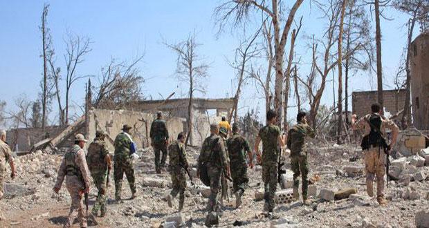 الجيش السوري ينفذ عملية نوعية بدرعا ويقضي على إرهابيين ويدمر عتادهم بريفي حمص وحماة