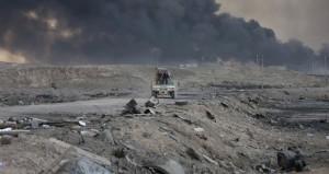 (عملية الموصل): القوات العراقية تحرر وسط قضاء الحمدانية وتستعيد كامل كركوك .. وانتحاريو داعش يعرقلون المعركة