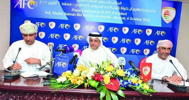 رئيس الاتحاد الآسيوى يؤكد على تعزيز أسس التعاون الوثيق مع اتحاد الكرة