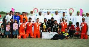 تتويج فريق صقور الشباب بطلاً لبطولة الاتفاق الشاطئية بالخابورة