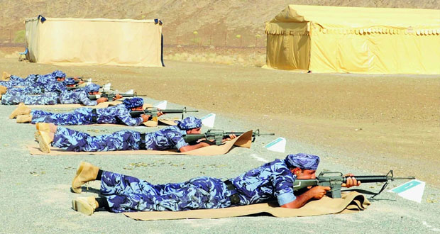 تواصل منافسات بطولة شرطة عمان السلطانية للرماية