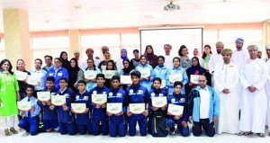 المدارس الخاصة تكرم طلابها أصحاب المراكز المتقدمة في منافسات الأيام الأولمبية المدرسية لعمانتل