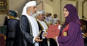 تخريج دفعة جديدة من طلاب الكليات العلمية بجامعة السلطان قابوس