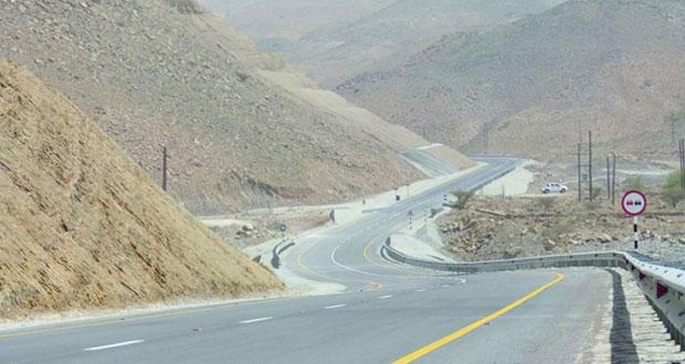 إنجاز 96% من المرحلة الأولى لطريق وادي منقال