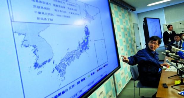 أمواج مد تضرب اليابان عقب زلزال قوي قرب موقع كارثة فوكوشيما
