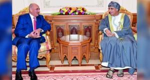 فهد بن محمود يستقبل نائب رئيس مجلس الوزراء لشؤون الخدمات وزير التربية والتعليم الأردني