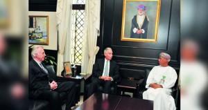 الرواس يستقبل مسئولي مجلس سياسات الشرق الأوسط