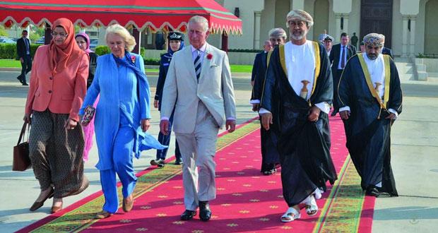 الأمير تشارلز والدوقة كاميلا يختتمان زيارتهما للسلطنة