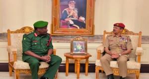 رئيس الأركان يستقبل قائد القوات الشعبية التنزانية