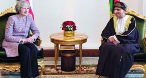 فهد بن محمود يستقبل رئيسة وزراء بريطانيا