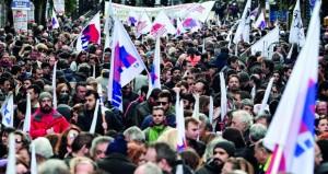 إضراب عام في اليونان احتجاجا على (التقشف)