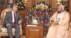 جلالة السلطان يتلقى رسالة من الرئيس الفلسطيني