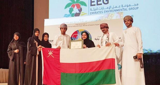 (تطبيقية) الرستاق الثالث عربًّيا في الخطابة البيئية