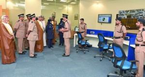 شرطة عمان السلطانية تحتفل بافتتاح مركز شرطة الوطية بمحافظة مسقط