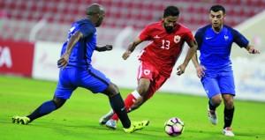 المنتخب البحريني يتغلب على المنتخب الفرنسي بهدف نظيف