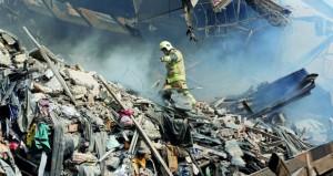 عشرات القتلى والجرحى بانهيار برج (بلاسكو) في طهران