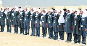 انطلاق فعاليات المخيم الشتوي الـ 20 للمرشدات بمخيم السلطان قابوس الكشفي بالملدة