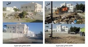 بلدية مسقط بالسيب تنقل أكثر من 721 شحنة من مخلفات الإنشاءات