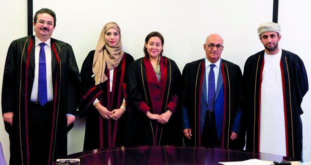 رسالة ماجستير في دور التحكيم الدولي في فض منازعات الاستثمار الأجنبي بجامعة السلطان قابوس