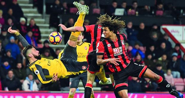 أرسنال يقلب الطاولة على بورنموث بتعادل مثير وفوز ستوك سيتي في الدوري الانجليزي