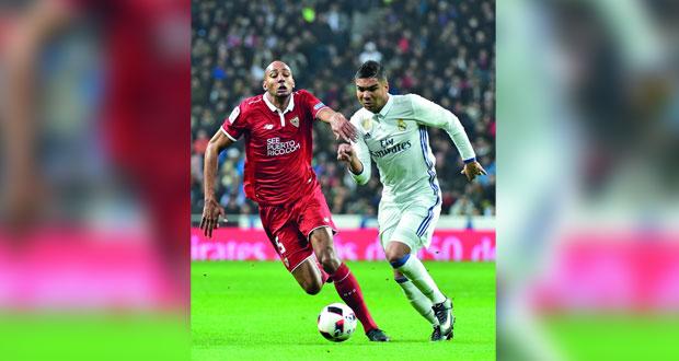 خاميس رودريغيز يضع ريال مدريد على مشارف ربع النهائي على حساب اشبيلية في كأس اسبانيا