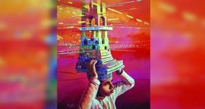 """سالم السلامي يحرز المركز الأول بالفن التشكيلي عن لوحته """"العلم معمر الأوطان"""""""