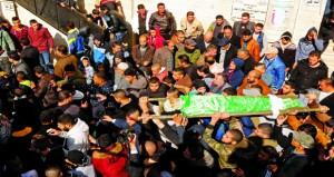 استشهاد شاب فلسطيني وإصابة 5 برصاص الإرهاب الإسرائيلي