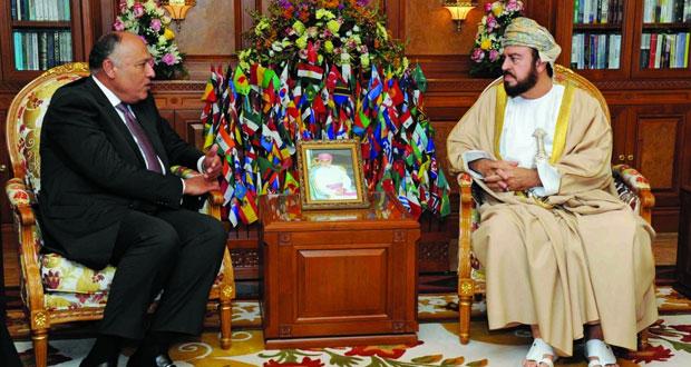 جلالة السلطان يتلقى رسالة شفهية من الرئيس المصري