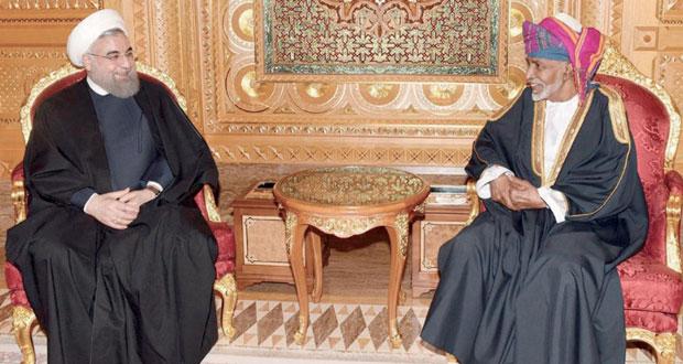 جلالة السلطان و الرئيس الايراني يبحثان تعزيز العلاقات الثنائية