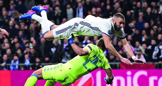 ريال مدريد يكسب نابولي بثلاثية وبايرن ميونيخ يتفوق على أرسنال بخماسية