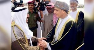 أمير الكويت يعرب عن تقديره لجلالة السلطان وشكره لحفاوة الاستقبال