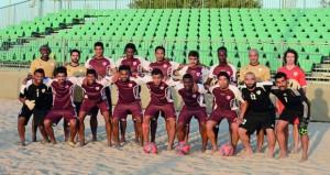 منتخبنا الوطني لكرة القدم الشاطئية يغادر الجمعة القادم إلى كوالالمبور