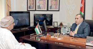 """السفير الأردني بمسقط: الأردن يتطلع الى تحقيق تطلعات الأمة العربية في """"قمة عمَّان"""" القادمة وسخَّر الإمكانيات لانجاحها"""