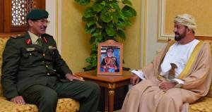 بدر بن سعود والنبهاني يستقبلان الأمين العام المساعد للشؤون العسكرية بالأمانة العامة لمجلس التعاون