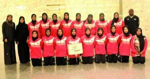 منتخبنا لفتيات اليد يواجه المنتخب البحريني في الدورة الخامسة لرياضة المرأة الخليجية