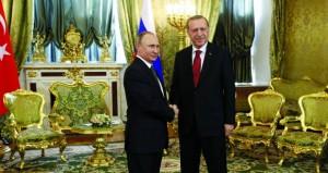 دمشق تطالب بإلزام تركيا بسحب قواتها .. والوضع السوري محور مباحثات بوتين أردوغان