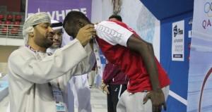 منتخبنا الوطني يضيف 5 ميداليات ليرفع رصيده الى 8 ميداليات ملونه في بطولة الخليج ال14 للسباحة القصيرة بالدوحة