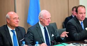 (جنيف 5): وفد الحكومة يلتقي غاتيلوف ويبحث معه مجريات جولة الحوار