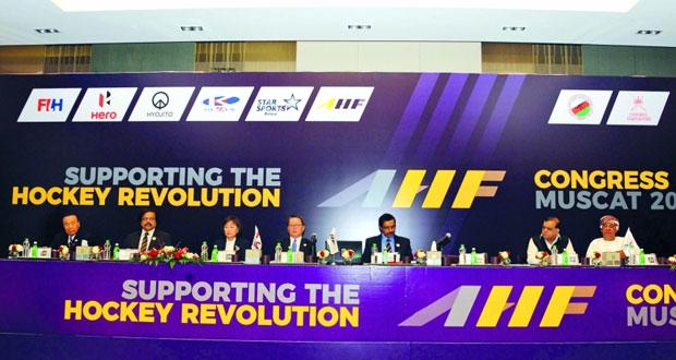 وزير الشؤون الرياضية يفتتح أعمال مؤتمر الكونجرس الآسيوي للهوكي