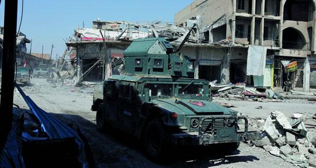 القوات العراقية تشتبك مع (داعش) بمحيط جامع النوري في الموصل .. وتعليق استخدام الأسلحة الثقيلة
