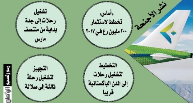 طيران السلام يدشن خط مسقط ـ دبي