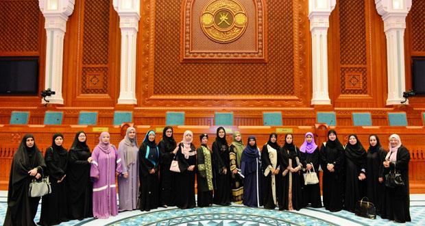 مجلس الدولة يستقبل وفد جمعية المرأة بمسقط